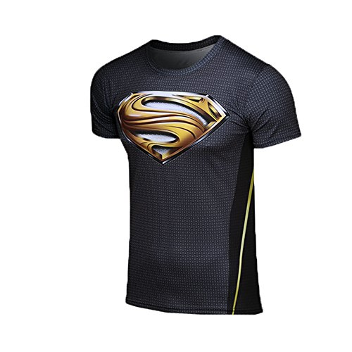Men's Superman T-shirt Gold Letters