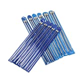"""PIXNOR Knitting Needles 11 Pairs - Stainless Steel, Straight, 14"""" in Sizes 2mm to 8mm"""