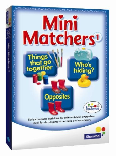 Mini Matchers Triple CD-ROM Pack - early literacy skills and fun from Sherston (Home User)