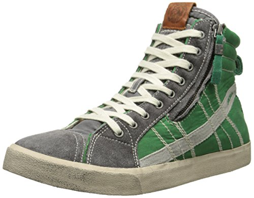 Diesel Men's Velows String Nylon Fashion Sneaker, Grey Gargoyle, 11 M US
