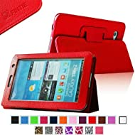 Fintie Slim Fit Folio Case Cover For Samsung Galaxy Tab 7.0 Plus / Samsung Galaxy Tab 2 7.0 Tablet - Red