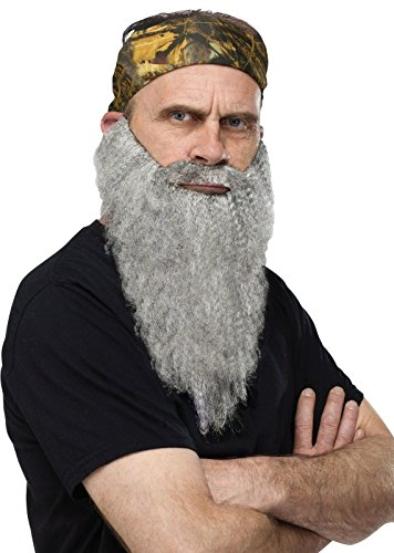 FunWorld Duck Hunter Disguise, Bandana and Grey Beard, One Size Costume