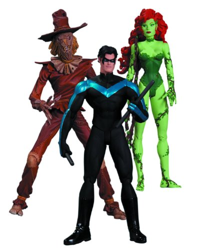 DC Collectibles Hush Scarecrow, Nightwing and Poison Ivy Action Figure, 3-Pack