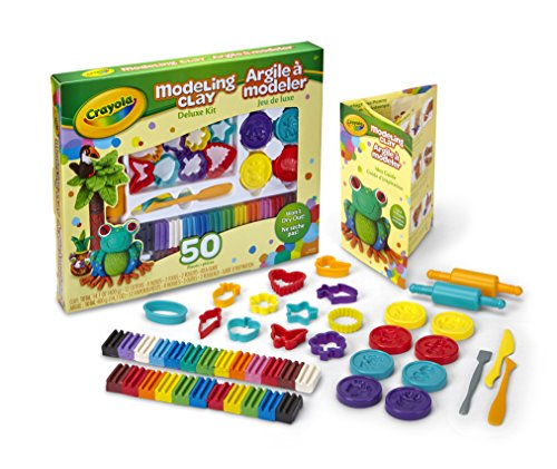 crayola-modeling-clay-deluxe-kit-art-tools-50-pieces-soft-pliable-clay-wont-dry-out