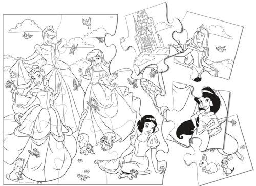 Disney Princess Party Jumbo Coloring Puzzle