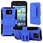 Samsung Galaxy S II Case, CellJoy [Future Armor] {Cobalt Blue} Samsung Galaxy S2 i9100 i777 Straight Talk Net10 At&t 2011 Release Model Case Hybrid Ultra Fit Dual Protection [Heavy Duty] Kickstand Holster **Shock-proof** [Belt Clip Holster Combo] - Robot Case Cover