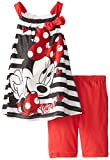 Disney Little Girls' Minnie Mouse Two-Piece Tank Top and Bike Short Set, 4-6X