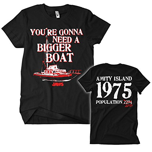 Officially Licensed Merchandise Jaws - You're Gonna Need a Bigger Boat T-shirt - S to XXL