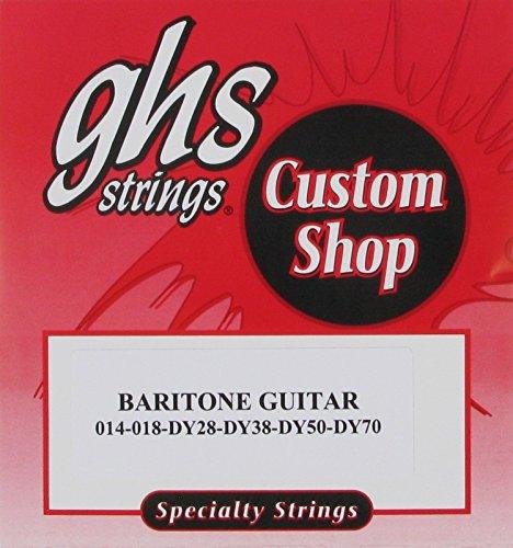 Ghs Electric Guitar Baritone Round Wound, .014 - .070, Cu-Bari