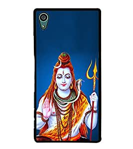 Printvisa Lord Shankar 2D Hard Polycarbonate Designer Back Case Cover For Sony Xperia Z5 :: Sony Xperia Z5 Dual
