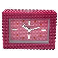 [ナノブロック]nanoblock デコレーション目覚まし時計 アラームクロック 置時計 おまけブロック付 ピンク NAAC-96904PP