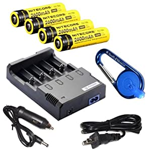 Nitecore Sysmax Intellicharge i4 version 2 Four Bays universal home car battery... by Nitecore