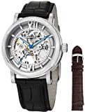 Stuhrling Original Mens 426AL.SET.01 Winchester XT Automatic Skeleton Leather Band Watch with Additional Strap