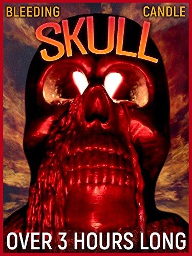 Halloween Bleeding Skull Candle