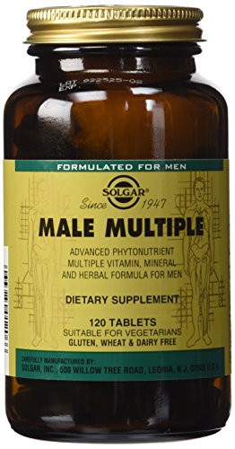 Solgar Male Multiple Tablets, 120 Count