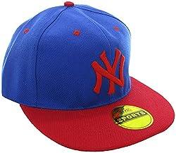 Masti Station Hip Hop Snapback NY Cap (Blue and Red)