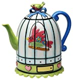 Appletree Design Flights of Fancy Teapot, 6-1/2-Inch