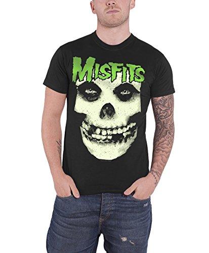 Misfits Glow Jurek Skull Official Mens New Black T Shirt