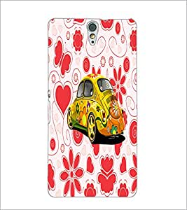PrintDhaba Floral Car D-4493 Back Case Cover for SONY XPERIA C5 ULTRA (Multi-Coloured)