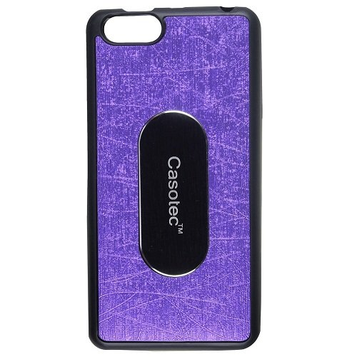 Casotec Metal Back TPU Back Case Cover for Panasonic P55 NOVO - Purple