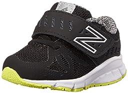 New Balance Vazee Rush I Running Shoe (Infant/Toddler), Black/Yellow, 3 W US Infant