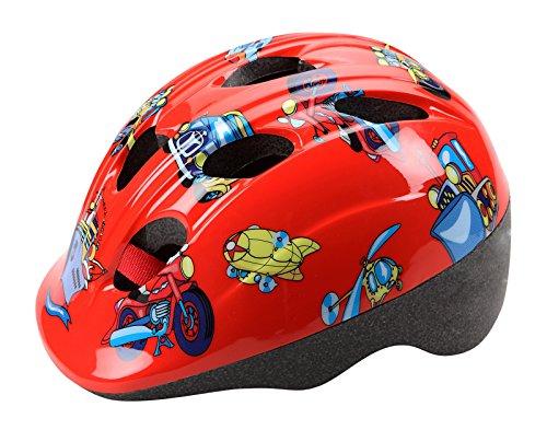 CHEEKY - Casco per bambini, omologato per bicicletta, pattini e skateboard, colore: rosso 3530