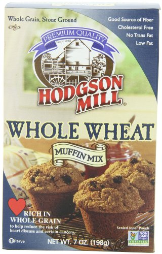 Hodgson Mill Whole Wheat Muffin Mix, 7-Ounce (Pack of 8)