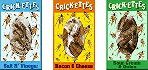 Crick-ettes Sampler Gift Pack- Sour Cream & Onion, Bacon & Cheese, & Salt N' Vinegar