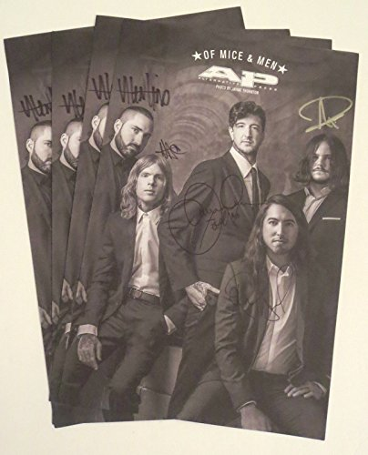Of Mice And Men band all 5 REAL hand SIGNED 11x17 Alt Press poster + Magazine (Alt Press Magazine compare prices)