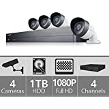 SDH-B73040 - Samsung 4 Channel 1080p HD 1TB Security System with 4 Cameras
