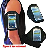 Sony Ericsson Xperia Z C6630 Black Colour Running MP3 Player, Gym, Cycling Sport Armband Phone Holder -By eFeel