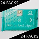 Bath in Bed Wipes - Full Box of 24 Packs