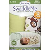 Summer Infant SwaddleMe 2-Pack - Jungle Buddies - Small/Medium
