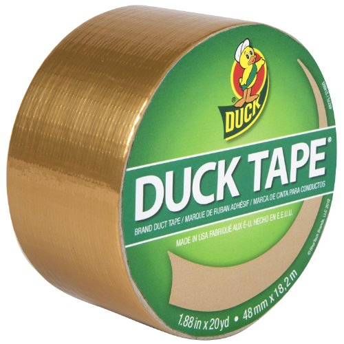 Duck Brand 280748 Metallic Colored Duct Tape, Gold, 1.88-Inch by 10 Yards, Single Roll