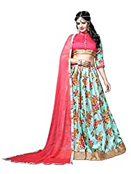 Glorious World SkyBlue Color Bhagalpuri Lehenga Choli