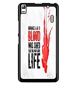 PrintDhaba Meaningful Text D-5520 Back Case Cover for LENOVO A7000 (Multi-Coloured)