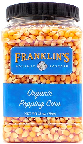 Franklin's Organic Popping Corn (28 oz). Make Movie Theater Popcorn at Home. (Gourmet Popping Corn compare prices)