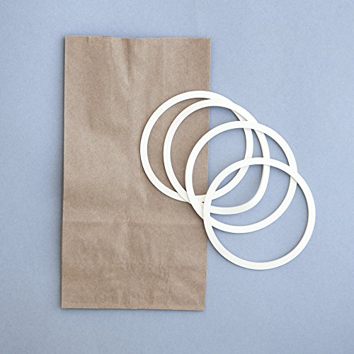 ReCAP Rubber Gaskets, Set of 8, Wide Mouth