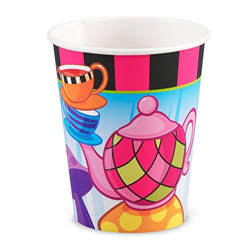 Party Destination - Topsy Turvy Tea Party 9 Oz. Paper Cups