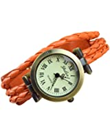FLORAY Homme et Femme Bracelet en cuir, Belle montre-bracelet, Bracelet réglable, Cadran rétro. Longueur: 17.5 - 20.5 cm