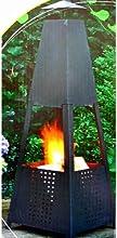 Lifetime Garden 95865 - Estufa de carbón, metal, 100 Cm