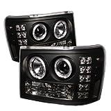 Spyder Auto GMC Sierra 1500/2500/3500, GMC Sierra Denali Black Halogen Projector Headlight