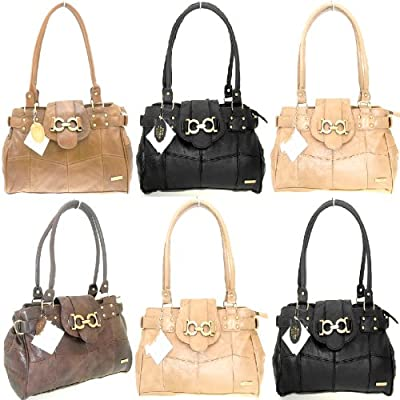 Lorenz Ladies Large Patch Leather Weekend Shoulder Bags Hand Bag Ladies Bags