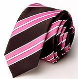 【SEBLES】メンズ 男性 ネクタイ ビジネス 結婚式 パーティー おしゃれ シンプル かっこいい NM612: ピンク (幅5.5cm) 147cm