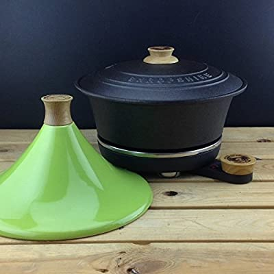 Netherton Foundry Shropshire Cast Iron Slow Cooker With Apple Green Tagine Lid by Netherton Foundry Shropshire