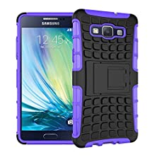 buy A5 Case, Armorbox Protective Cover Drop Protection Shock-Absorption Premium Shell With Built-In Stand And Extra Grip Fitted Skin For Samsung Galaxy A5 (Free Stylus + Screen Protector) -Purple