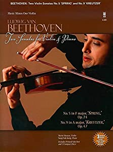 Ludwig Van Beethoven: Sonatas Op. 24 'Spring', Op. 47 'Kreutzer' [With 2 CDs] (Music Minus One (Numbered)) from Music Minus One