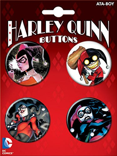 Ata-Boy DC Comics Harley Quinn Assortment #1 4 Button Set