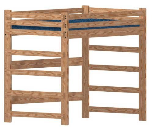 Loft Bed Woodworking Plan (not a bed) to Build Your Own Full-Size Extra-Tall Loft and Hardware Kit (Wood NOT Included)