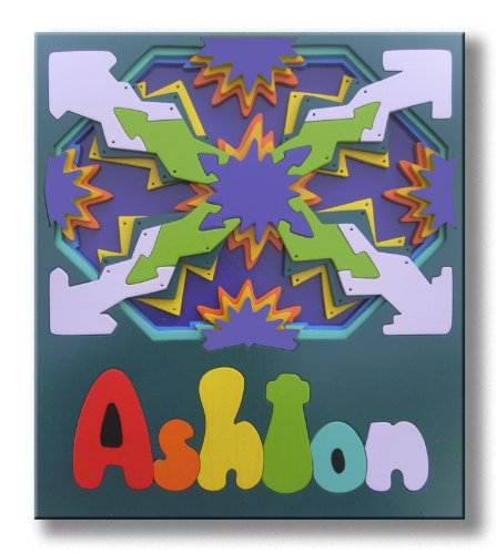 Picture of KidPuzzles Wood Name Puzzle 3D Starburst (B00564HNKU) (3D Puzzles)